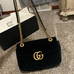 Velvet Gucci medium GG Marmont 2.0